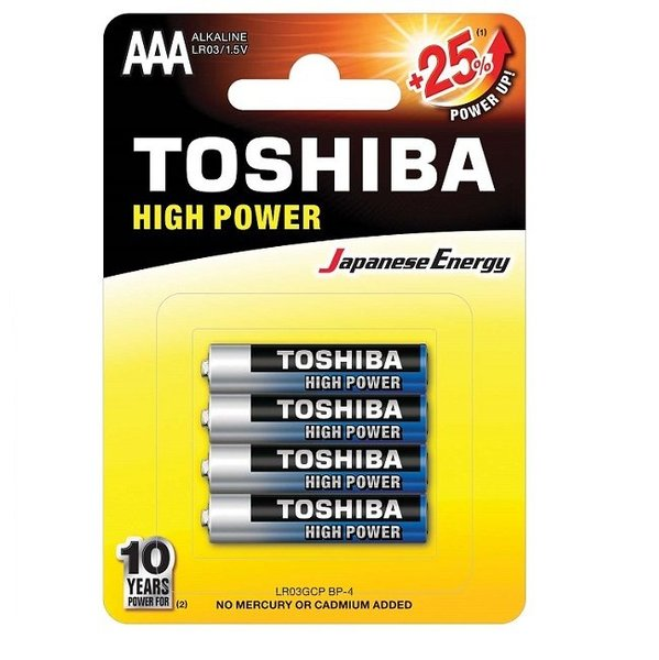 Алкални батерии Toshiba High Power LR03/LR6 1,5V