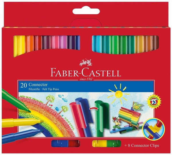 Флумастери 20 цвята Faber-Castell Connector 1010180145