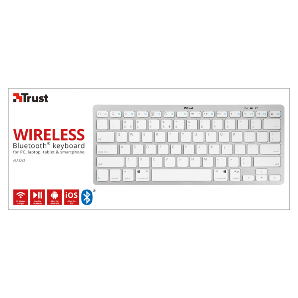 Клавиатура, TRUST Nado Wireless Bluetooth Keyboard