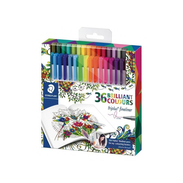 Тънкописци Staedtler Adult Colouring 334, 36 цвята