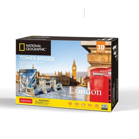 CubicFun 3D Пъзел TOWER BRIDGE NATIONAL GEOGRAPHIC