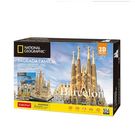 CubicFun 3D Пъзел BARCELONA SAGRADA FAMILIA NATIONAL GEOGRAPHIC