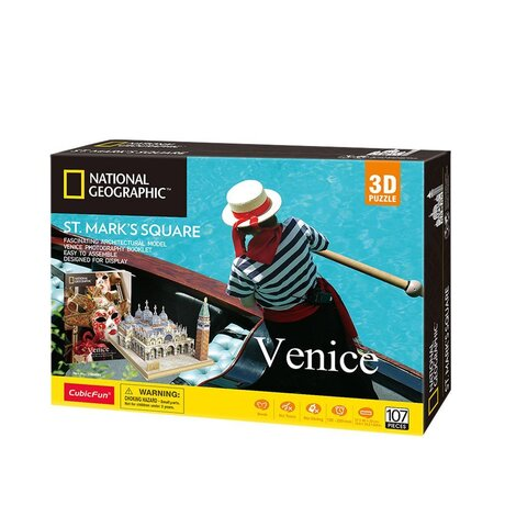 CubicFun 3D Пъзел VENICE ST MARK'S SQUARE NATIONAL GEOGRAPHIC